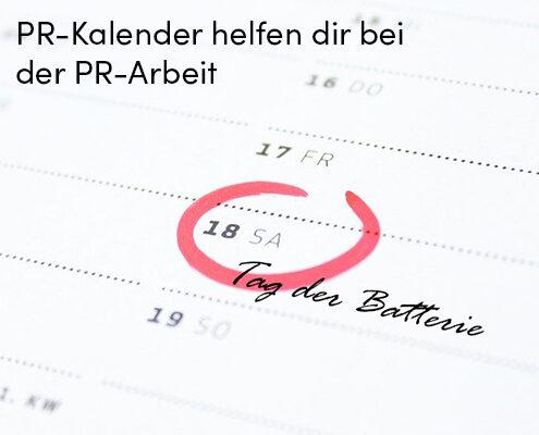 PR-Kalender helfen dir bei der PR-Arbeit