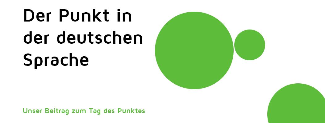 Die Rolle des Punktes in der deutschen Sprache